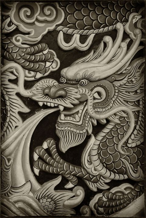 Dragons in a delta temple© Roger Garwood 2013